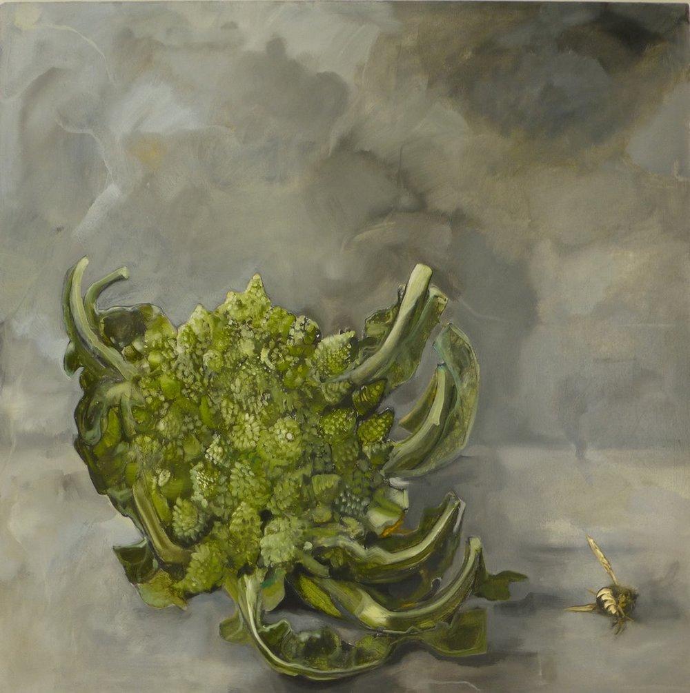 Adele Underwood  Untitled  Oil on canvas, 90 x 90 cm  http://www.adeleunderwood.co.uk