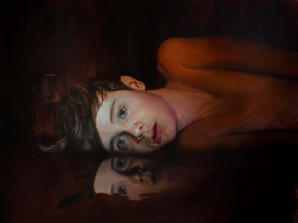 Adrian Hill  Night Sweats  Oil on canvas, 92 x 70 x 2 cm  http://hill-art.co.uk