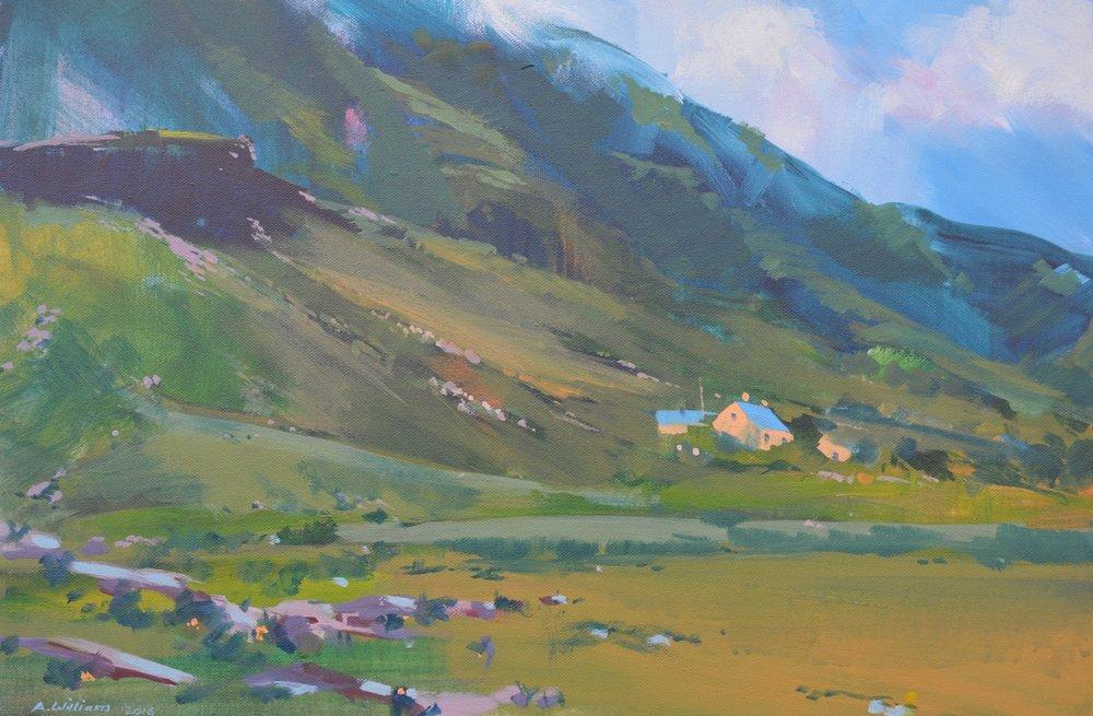 Alan Williams  Gap of Dunloe (Kerry)  Acrylic on canvas, 42 x 60 x 20 cm