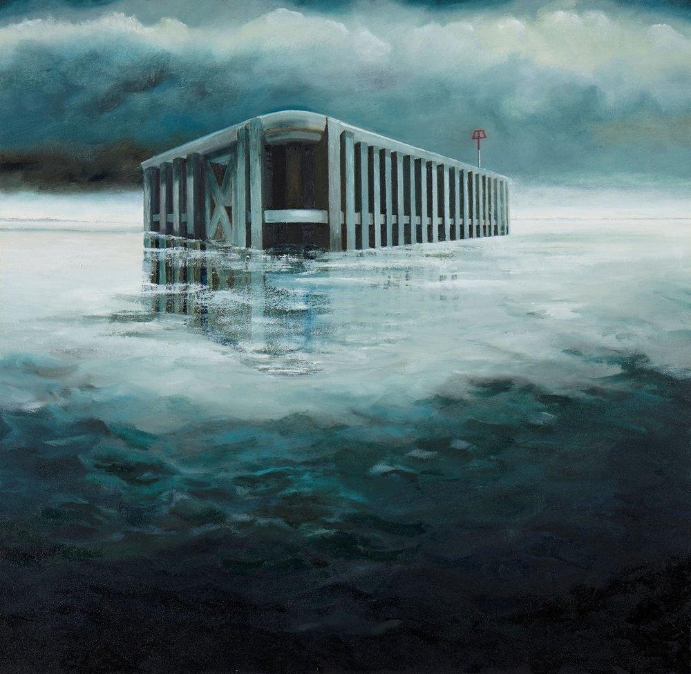 Allan J Robertson  Arrival  Oil on canvas, 77.5 x 79.5 x 3.5 cm  https://www.allanjrobertson.com