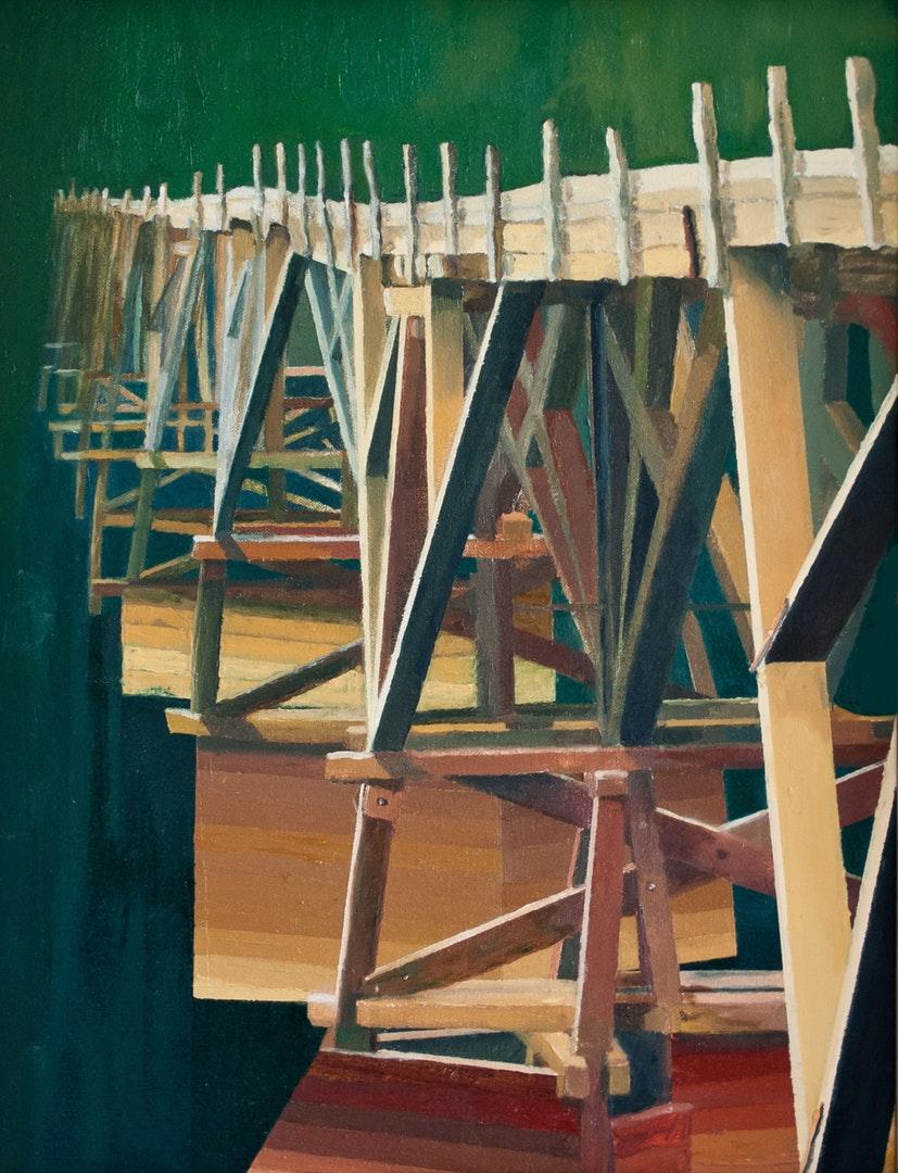 Allan J Robertson  The Old Endrick Viaduct  Oil on canvas, 45.5 x 35.5 x 3 cm  https://www.allanjrobertson.com