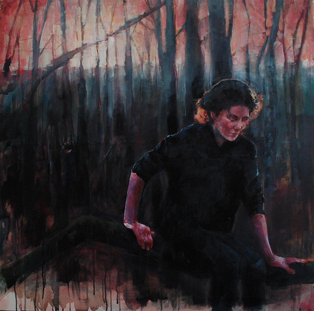Amy Dury  Rae and Jamie  Acrylic, 100 x 100 x 4 cm