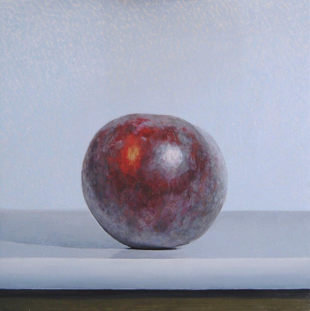 Andrew Thompson  Plum  Oil on Aluminium, 20 x 20 cm