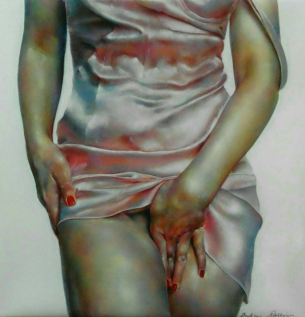 Barbara Abeltina  xxx  Oil on canvas, 30 x 30 x 2 cm