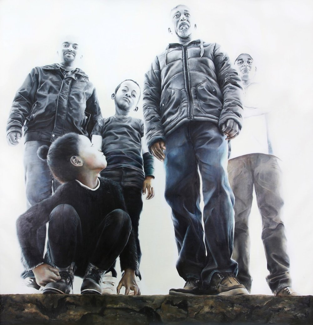 Carman Tong  The Fading world  Oil on canvas, 200 x 200 cm