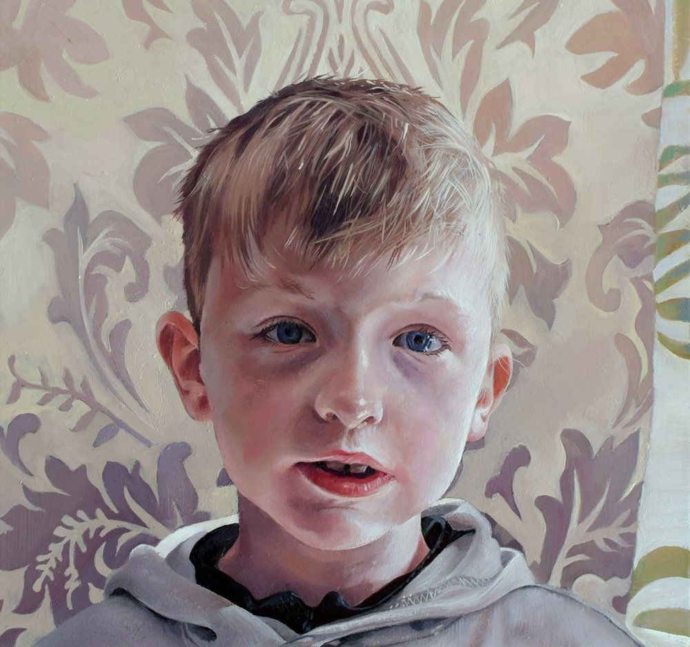 Catherine MacDiarmid  This Is Me  Oil on board, 20 x 20 x 2 cm  http://catherinemacdiarmid.co.uk