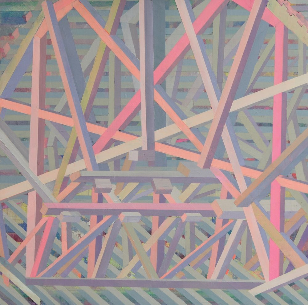 Charles Inge  After Piranesi  Oil on canvas, 75 x 75 x 3 cm  http://charlesinge.com