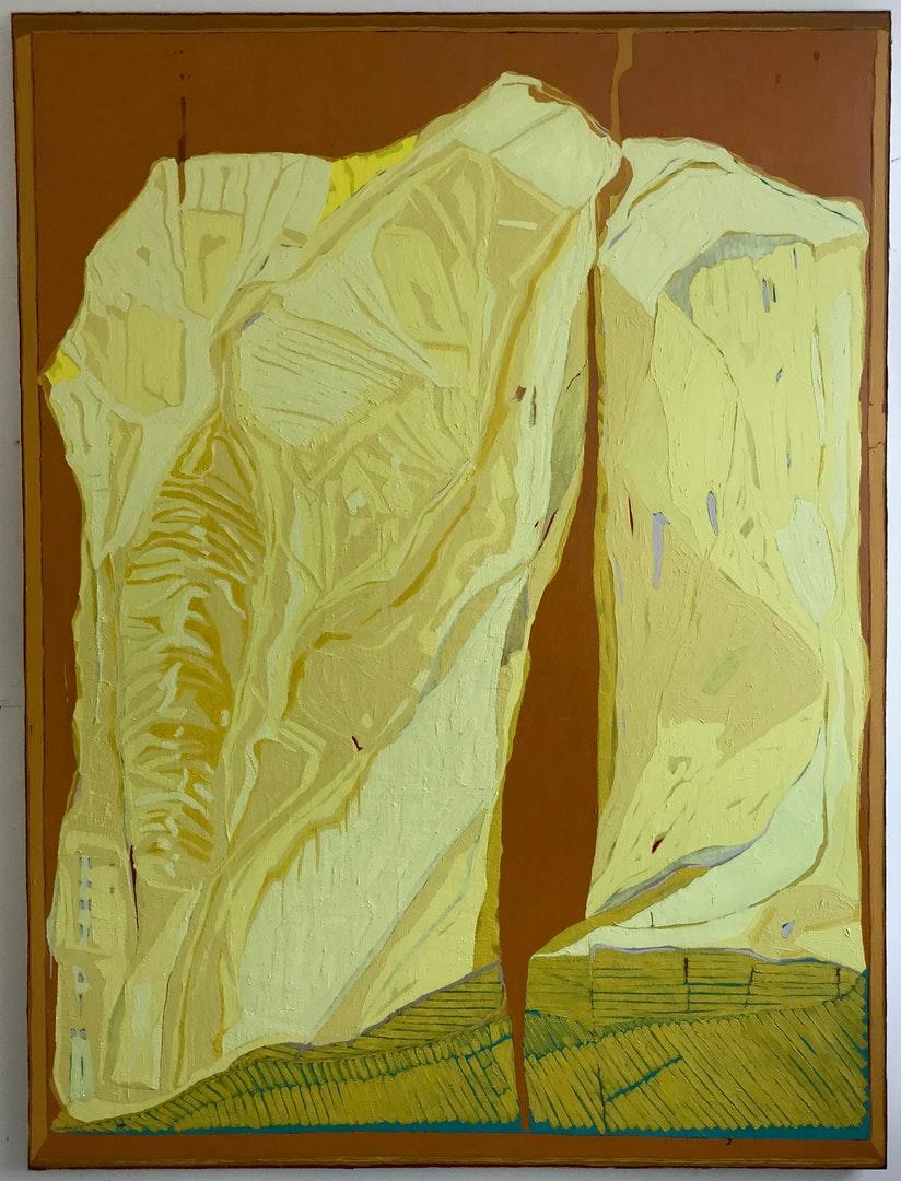 Clare Thatcher  Vision of Landscape  Oil & pigment on canvas, 200 x 150 x 5 cm  https://clarethatcher.wordpress.com
