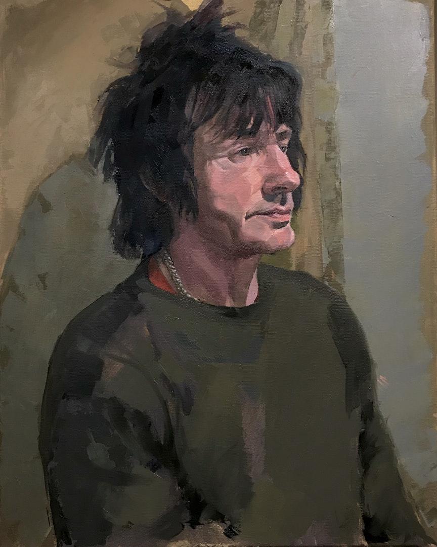 Dan Ferguson  Ian  Oil on linen, 41 x 51 x 2 cm  http://Www.danferguson.co.uk