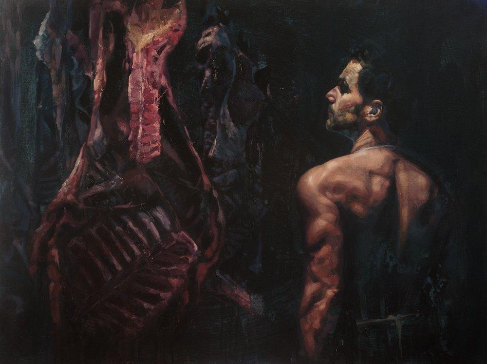 Daniel Cooke  Let them have dominion II  Oil on canvas, 91 x 122 x 4 cm  http://www.danielcooke.co.uk