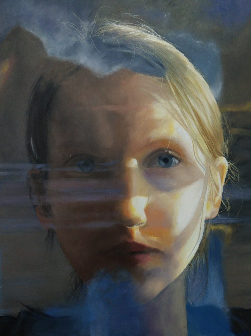 Freya Hoayun  Self portrait  Oil on board, 30 x 23 x 0.5 cm  http://freyahoayunart.com