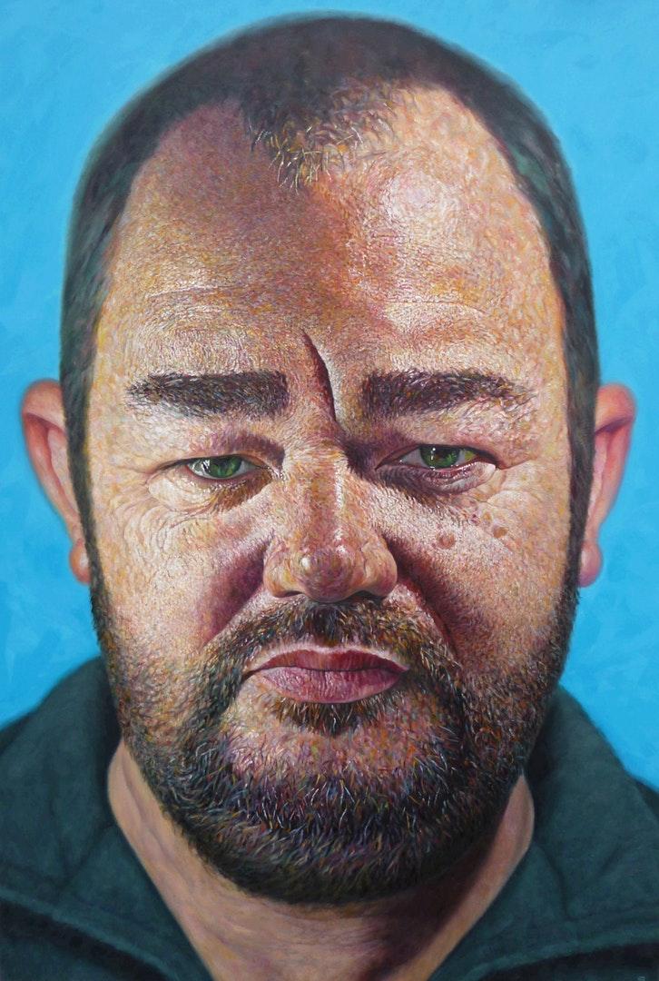Geoff Shillito  James  Oil on Canvas, 150 x 100 x 5 cm  http://geoffshillito.com