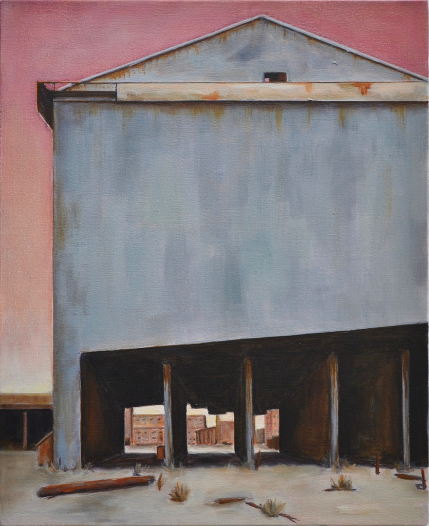 Gill Capewell  Industrial heartland 3  Oil on canvas, 56 x 46 x 2 cm  http://www.gillcapewell.co.uk