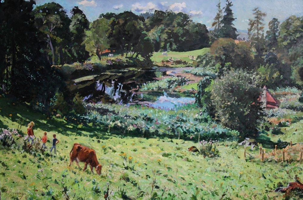 Hugh Kirkwood  High Summer  Oil on canvas, 101 x 153 cm  http://hughkirkwood.co.uk