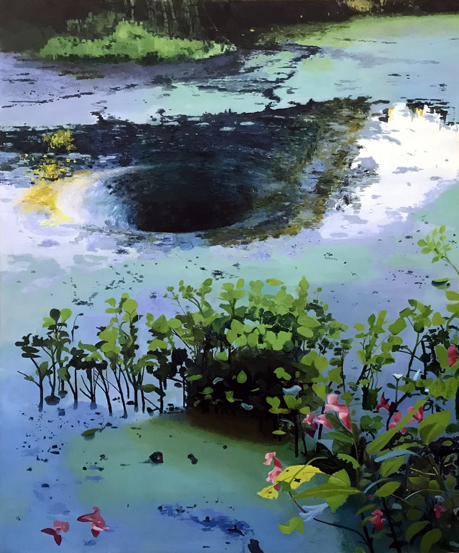 Iain Nicholls  Canal Anomalies  Oil on canvas, 122 x 91 x 3 cm  http://www.iain-nicholls.com