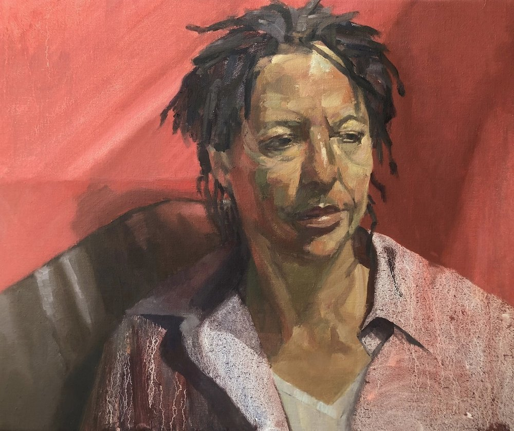 Ian Price  Joanna and the Red Blanket  Oil on canvas, 51 x 61 x 2 cm  http://www.ianpriceart.co.uk