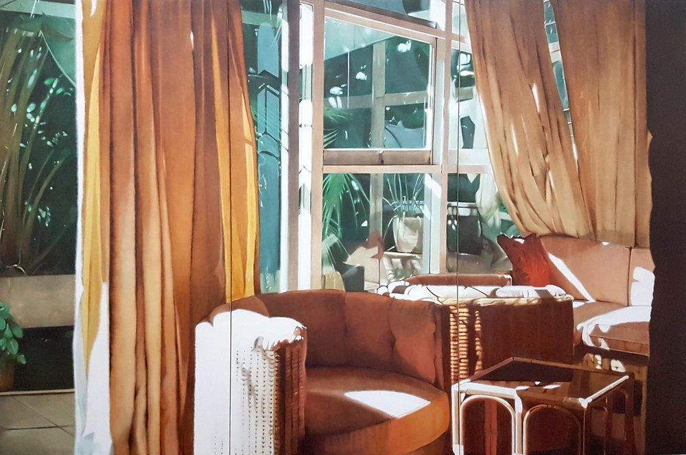 James Prapaithong  Interior with Bright Light  Oil on canvas, 200 x 300 x 5 cm  http://www.james-prapaithong.com