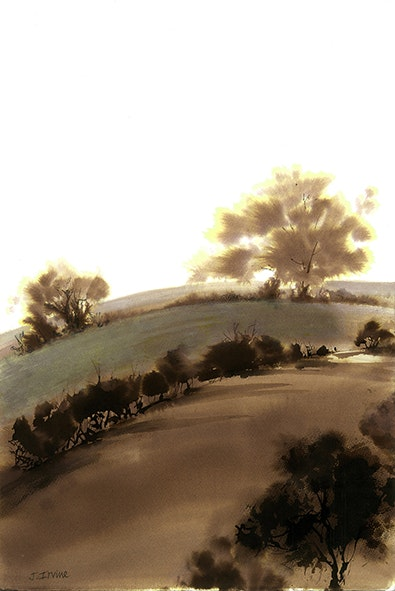 Jan Irvine  Dream View  Sepia ink on paper, 48 x 37 cm  http://www.janirvine.co.uk