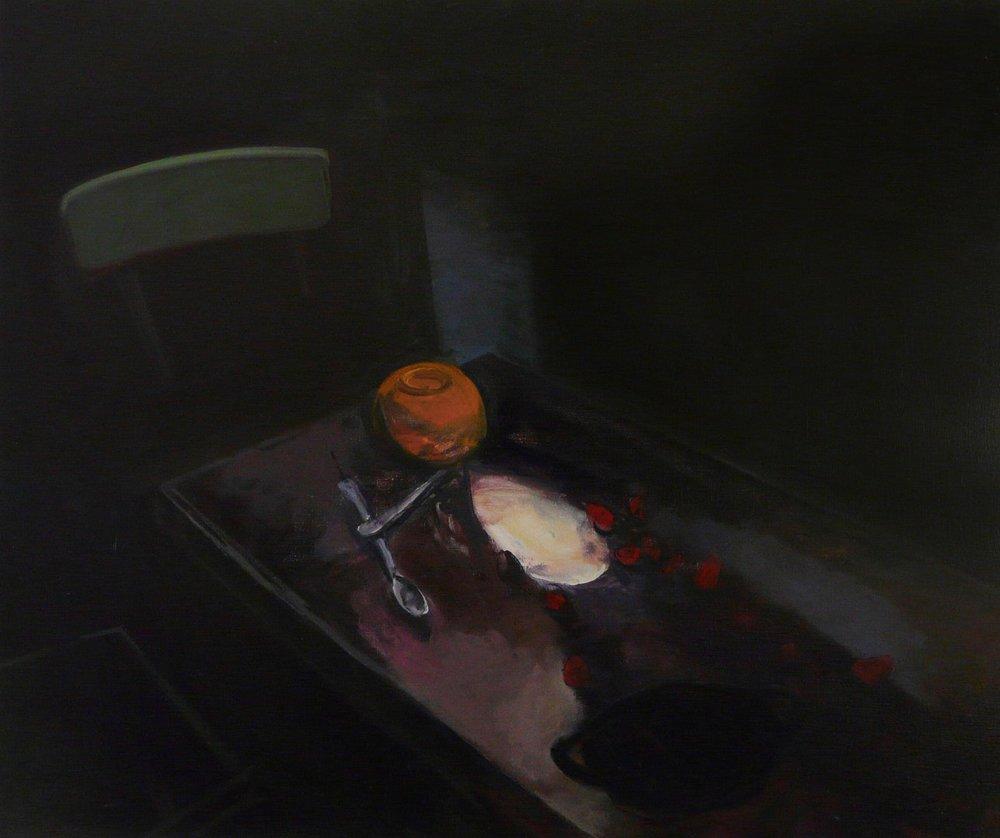 Jason Sumray  Spilt Strawberries & Cream II  Oil on Canvas, 122 x 102 x 2 cm  http://www.jasonsumray.com