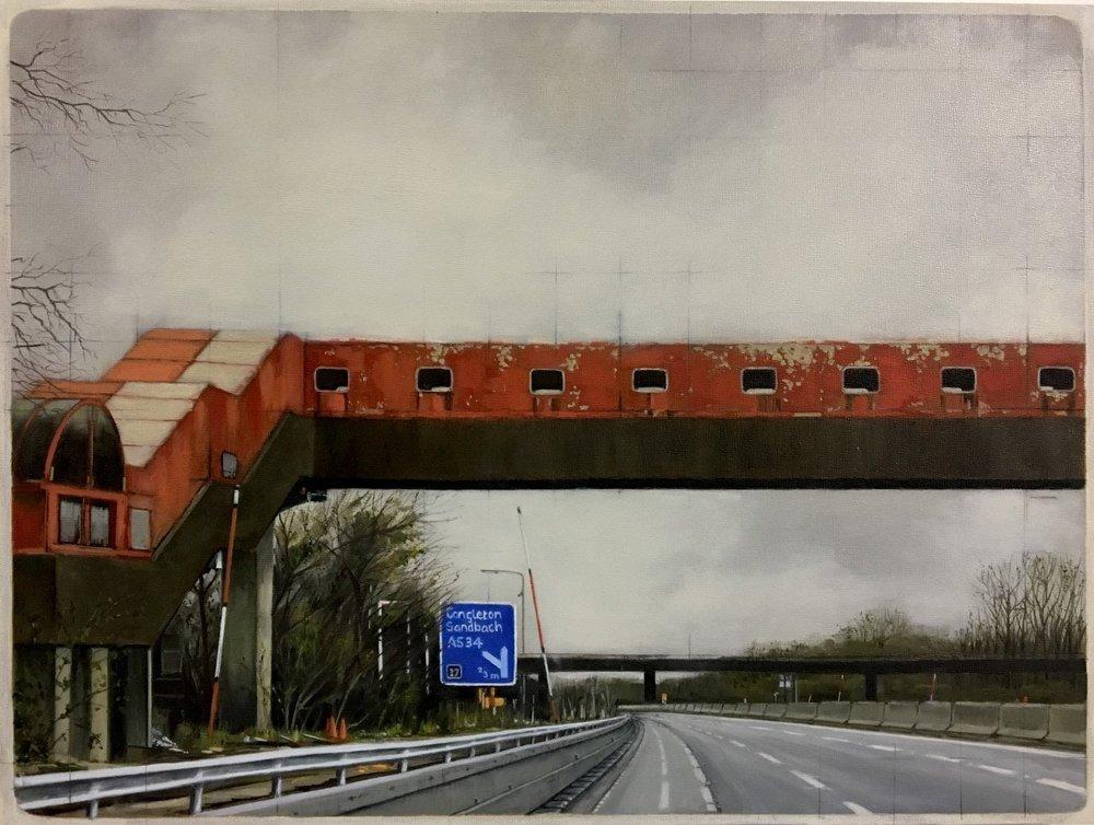 Jen Orpin  Red, White & Blue  Oil on gesso primed panel, 30 x 40 x 2.2cm  http://www.jenorpinpaintings.co.uk