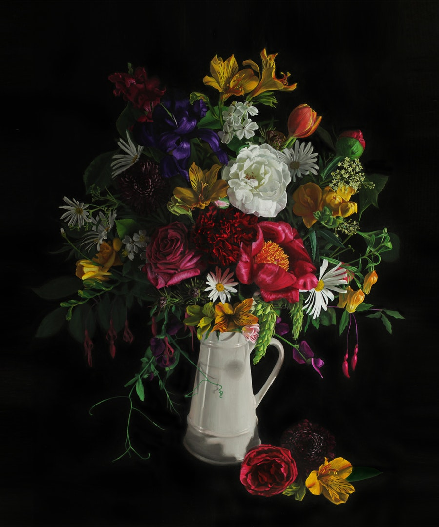 Jo Kreyl  Flemish Bouquet  Oil on canvas, 120 x 100 x 3 cm