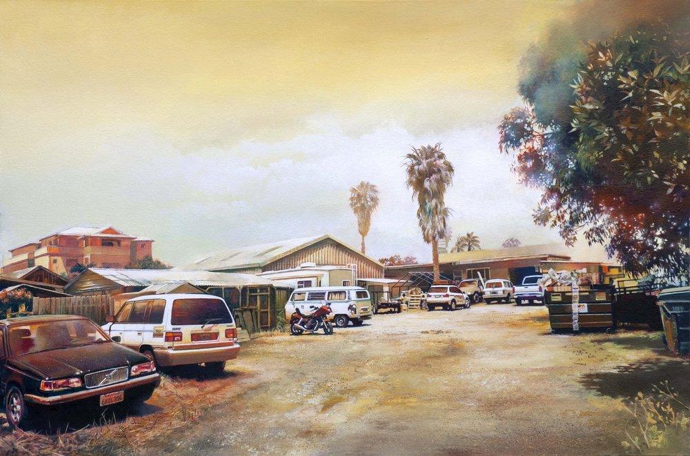 John Ball  Carlsbad  Oil on canvas, 51 x 76 x 3.5 cm   http://beware-the-void.com