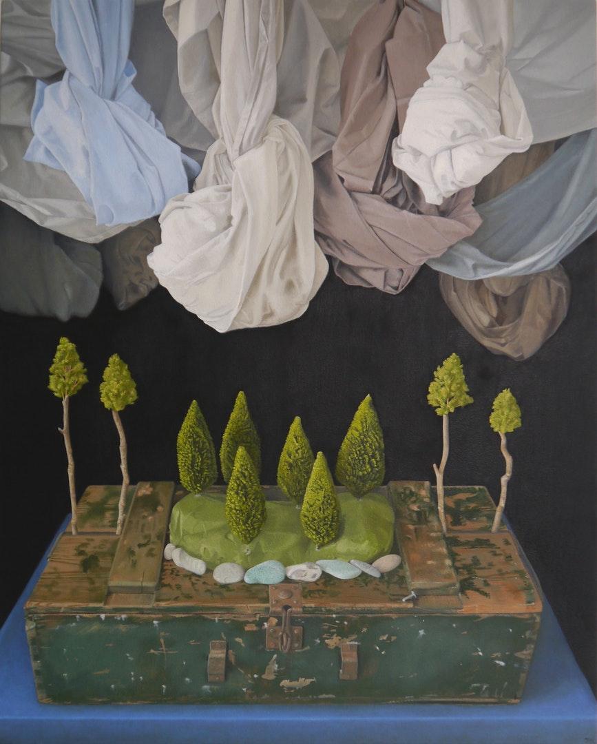 John Whitehill  Souvenir2  Oils on canvas, 75 x 60 x 3 cm  http://johnwhitehill.co.uk