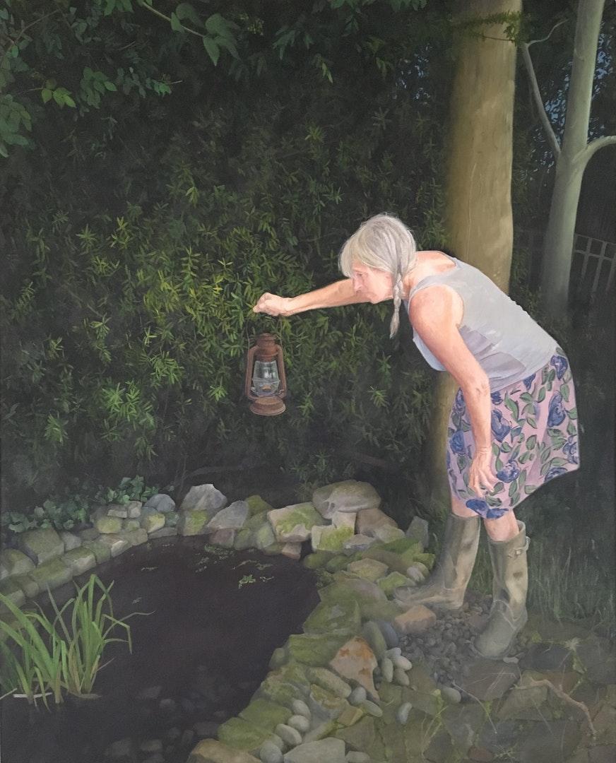 John Whitehill  Still Looking2  Oils on canvas, 100 x 80 x 2 cm  http://johnwhitehill.co.uk