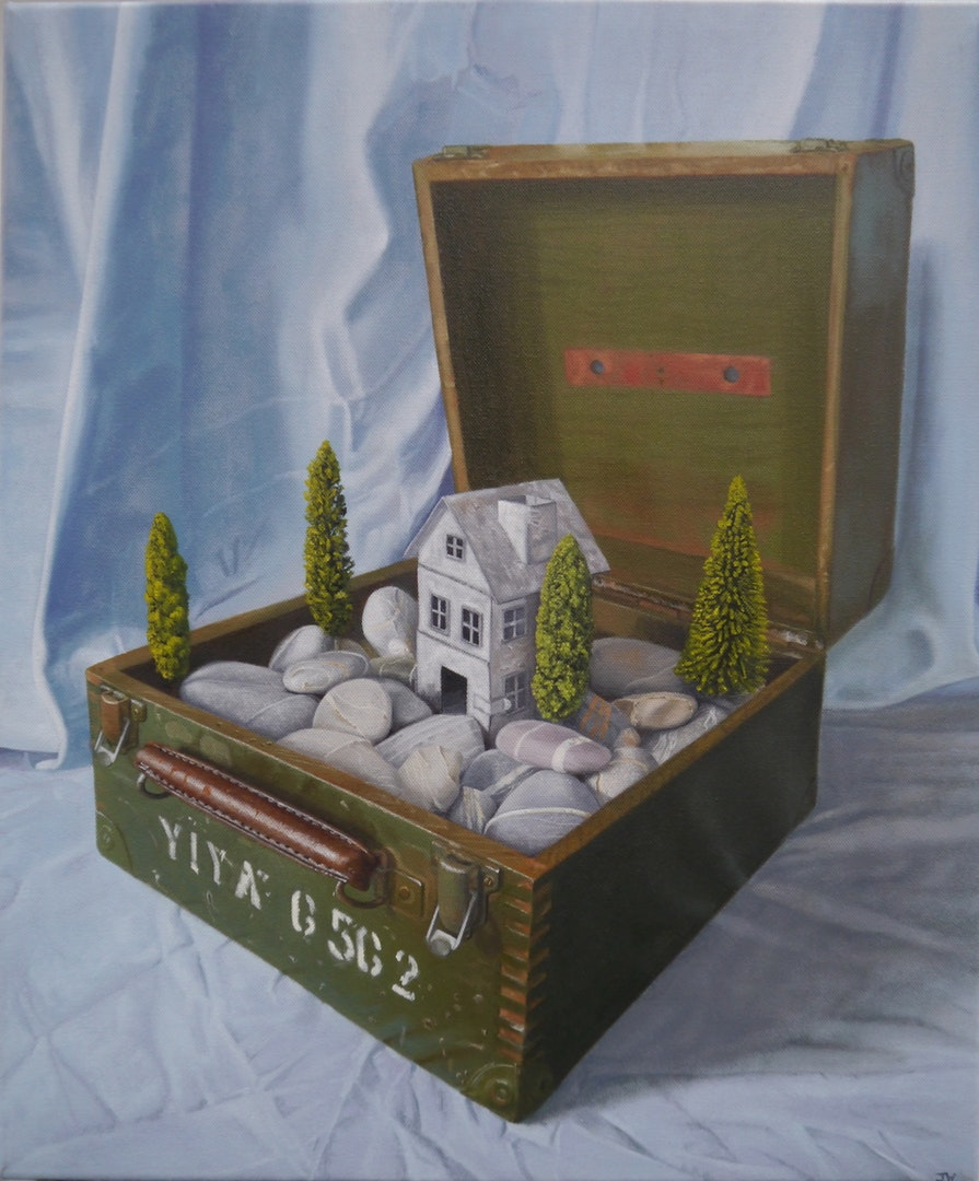 John Whitehill  YIYA 6562  Oils on canvas, 61 x 51 x 3 cm  http://johnwhitehill.co.uk