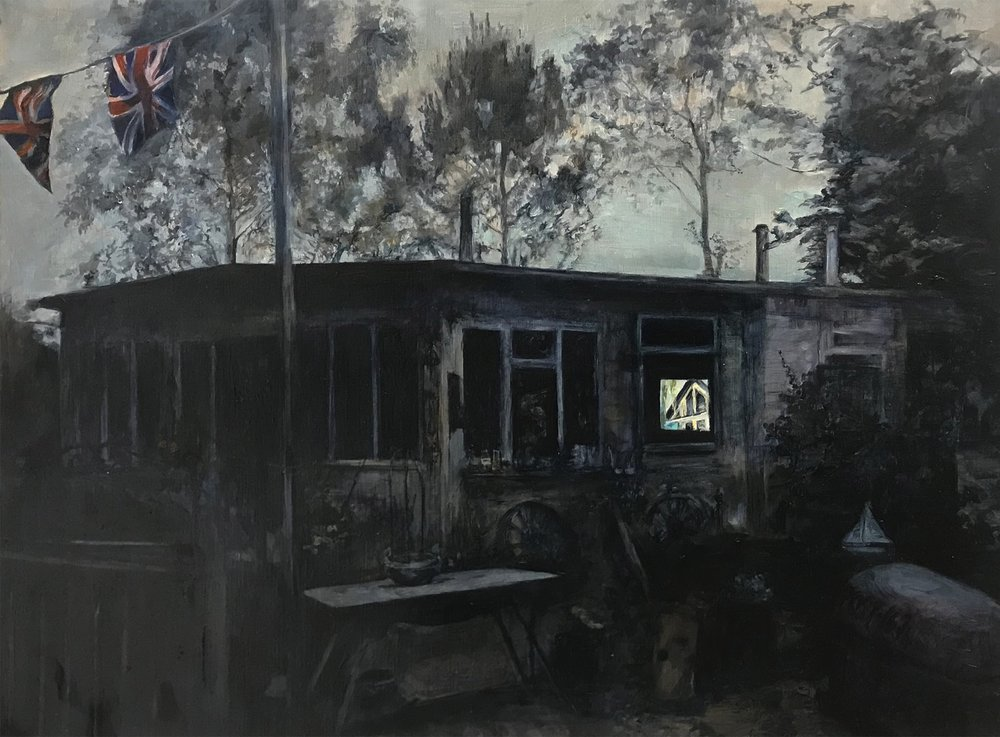 Judith Tucker  They'd have a party and everyone could go  Oil on linen, 60 x 80 x 4 cm  https://www.axisweb.org/p/judithtucker/