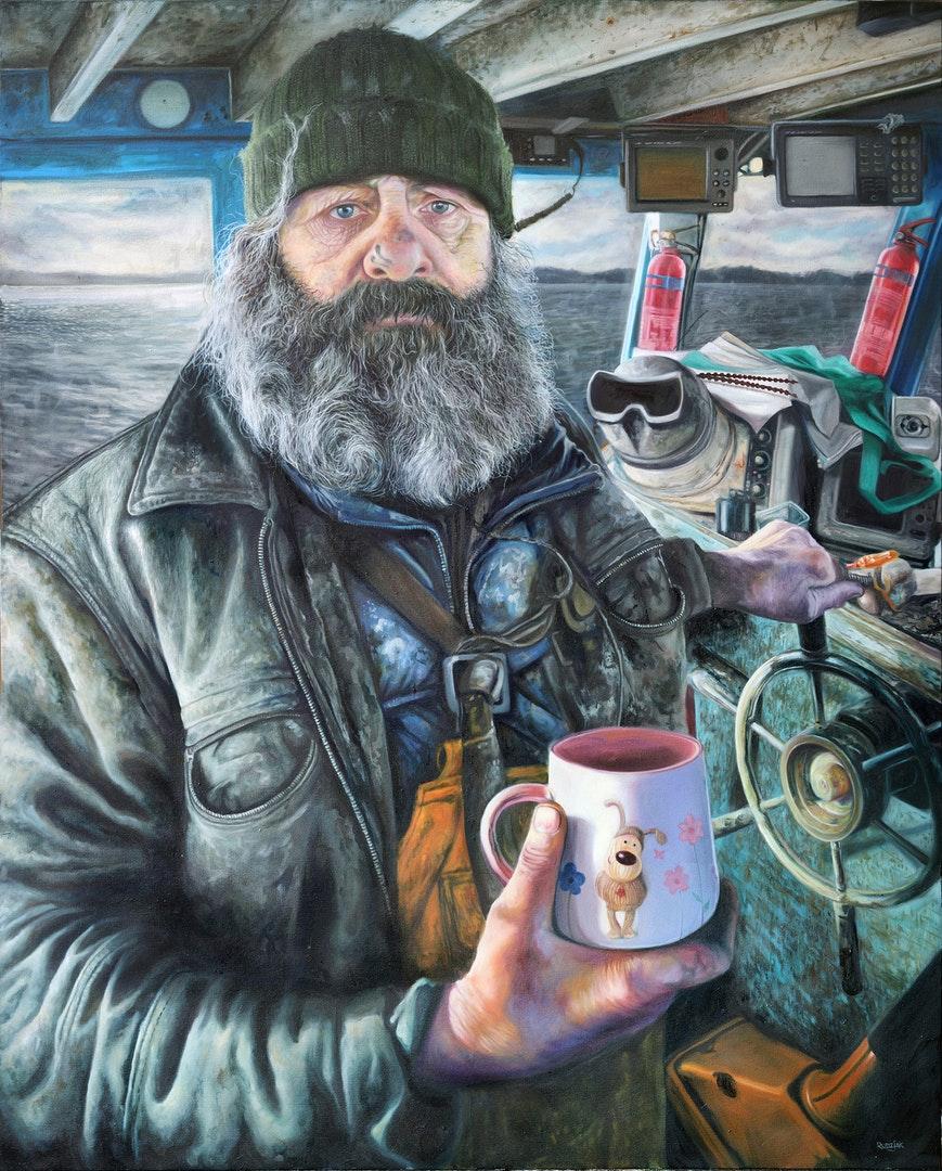 Karl Rudziak  Moses  Oil on Canvas, 150 x 120 x 4 cm  https://www.facebook.com/profile.php?id=100000840939764