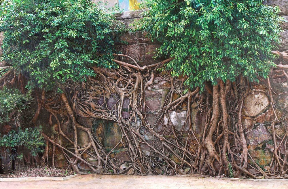 Kwong Tim Jackson Lee  Rooted in Survival  Oil on canvas, 121 x 182 cm  http://www.jacksonlee-art.com