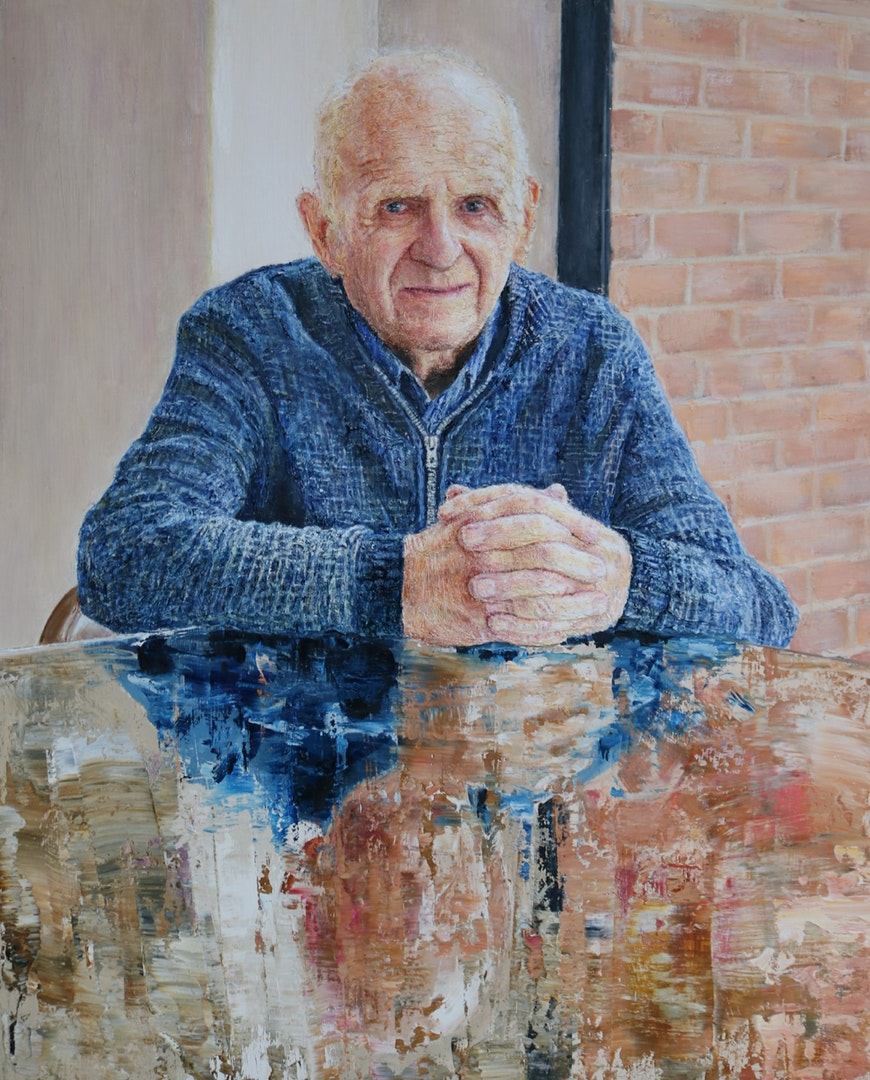 Liam Dunne  A Reflection of Time  Oil on wood, 77 x 63 x 4 cm  http://Www.liamdunneart.com