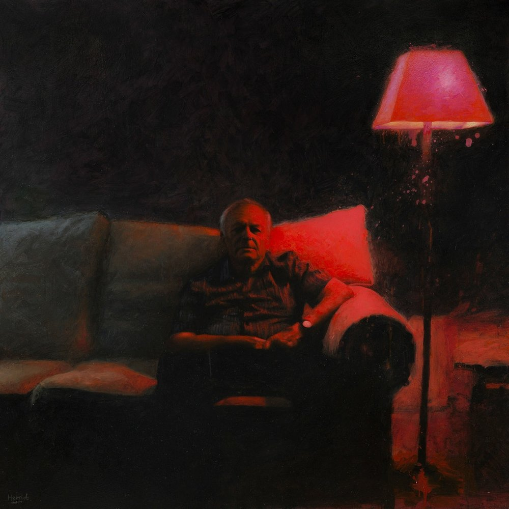 Matt Herriot  Remote II  Oil on canvas, 152 x 152 x 4 cm  http://www.herriotart.com