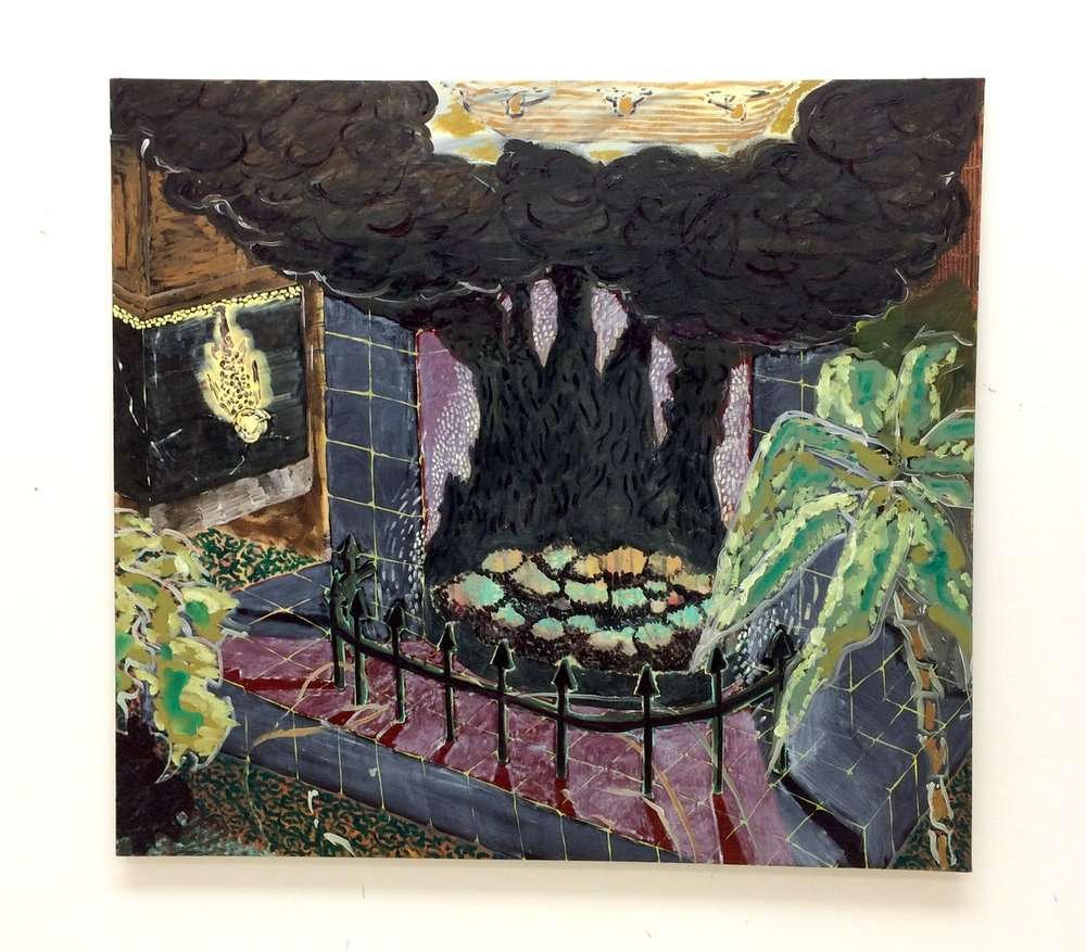 Max Gimson  Black-Fire Place  Oil on canvas, 145 x 135 cm  http://www.maxgimson.com