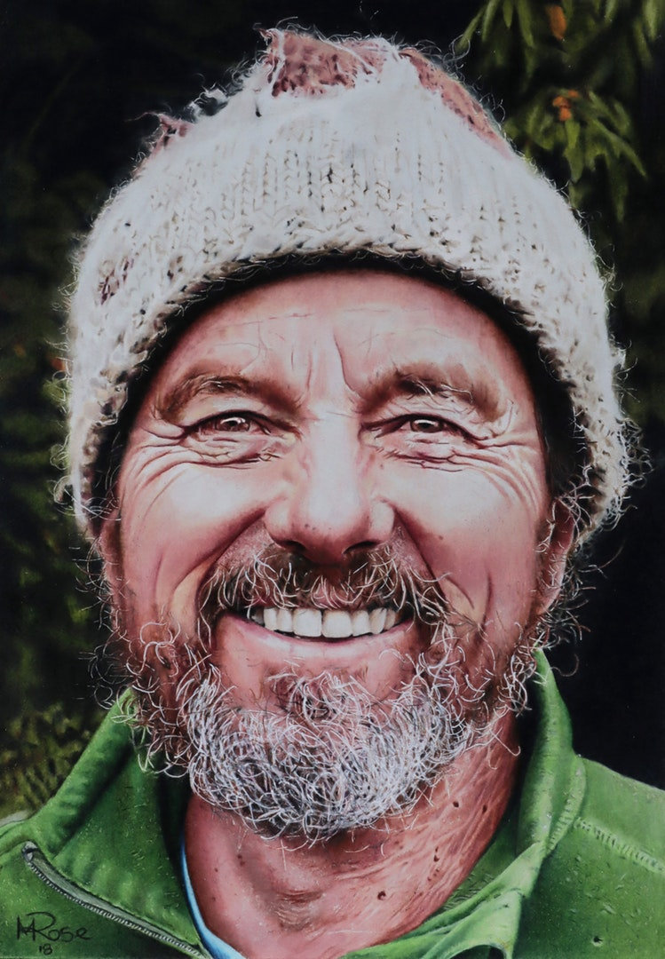 Michael Rose  Larry Roy  Colour pencils, 21 x 29.7 cm  http://www.michaelrosearts.com