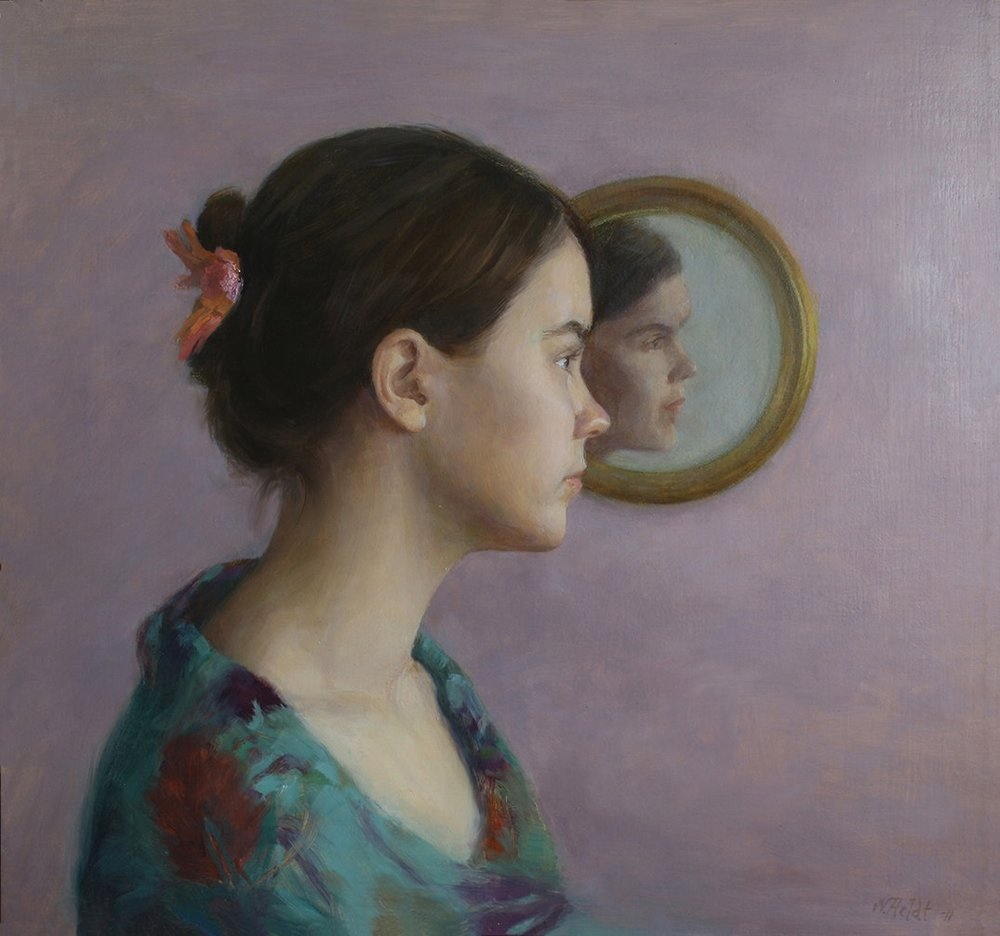 Ninni Heldt  Reflection  Oil on board, 45 x 48 cm  http://www.ninniheldt.com