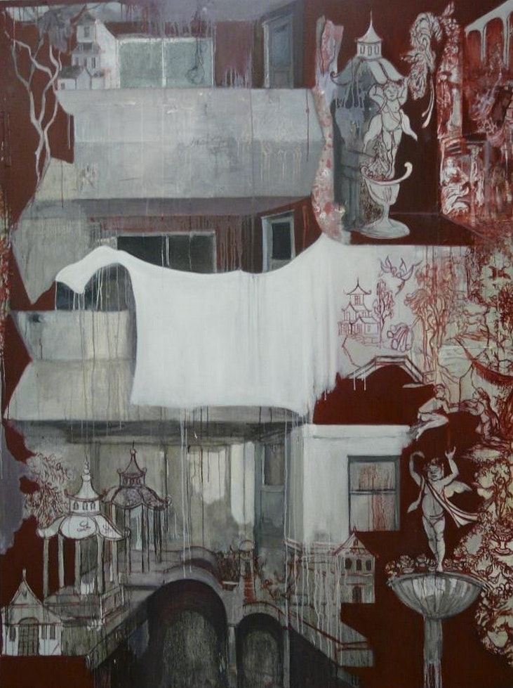 Teresa Ward  Large Red Painting  Oil on canvas, 152 x 213 cm
