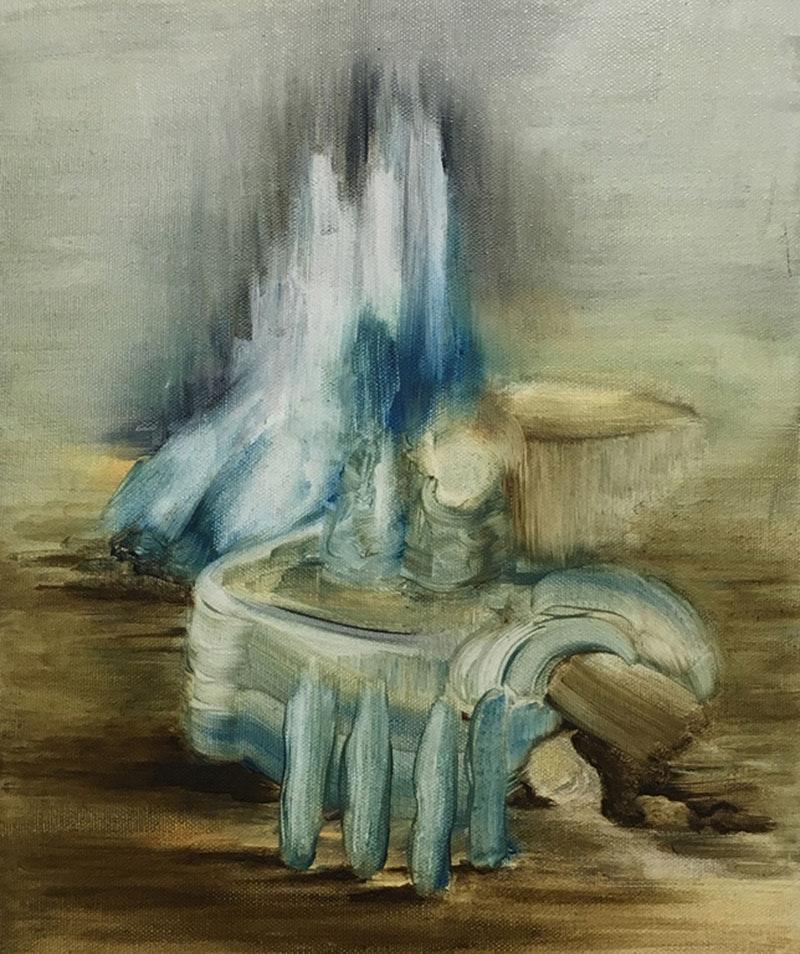 Helen Bermingham  Fictionscape (After Patinir)  Oil on canvas, 30 x 25 x 2 cm  http://www.helenbermingham.weebly.com