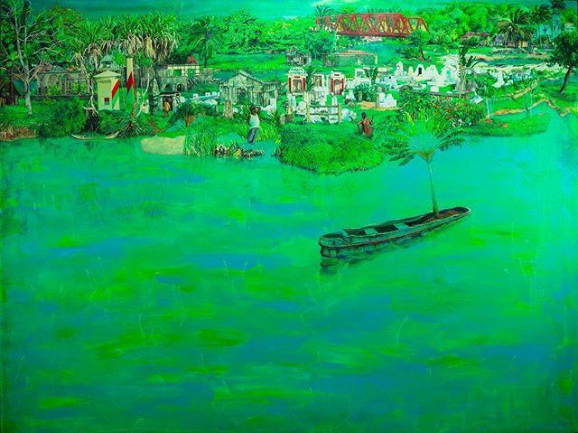 Jackson's Open Painting Prize 2019 Shortlisted Entry  Josh Hollingshead Manakara Oil and acrylic on canvas, 183 x 122 cm . #jopp2019 #jacksonsopenpaintingprize2019 #joppshortlist2019