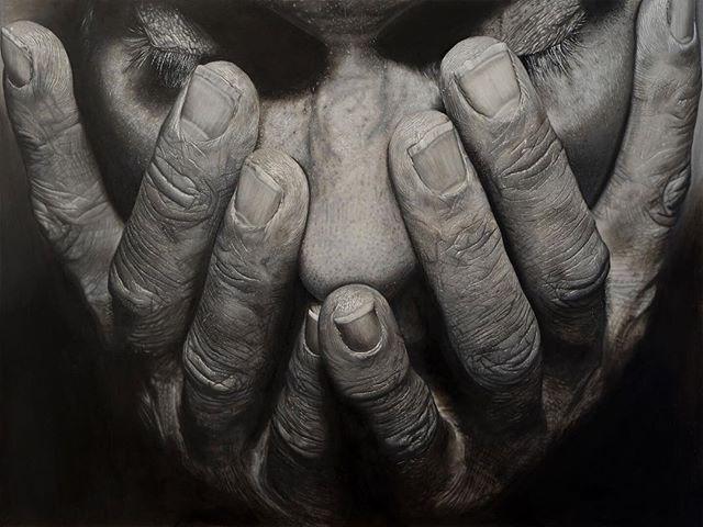 Jackson's Open Painting Prize 2019 Shortlisted Entry  Michael Sheldon Pain or Relief Oil on Aluminium Panel, 61 x 46 x 3 cm . #jopp2019 #jacksonsopenpaintingprize2019 #joppshortlist2019