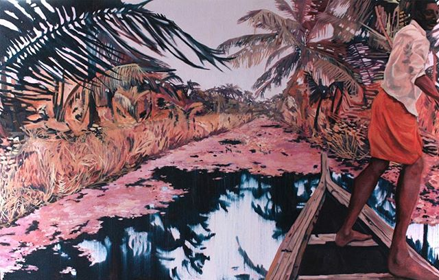 Jackson's Open Painting Prize 2019 Shortlisted Entry  Claire Cansick Backwater Dream Oil on canvas, 76 x 123 x 4 cm . #jopp2019 #jacksonsopenpaintingprize2019 #joppshortlist2019