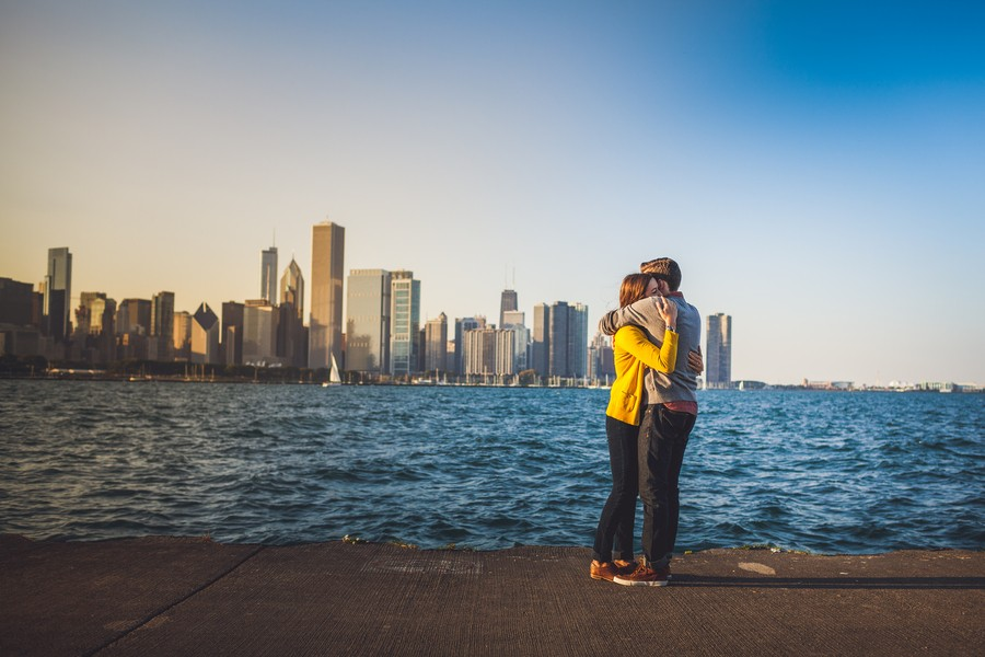 surprise marriage proposal in chicago
