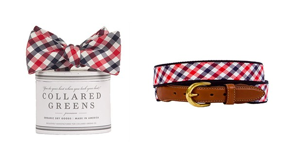 collared greens bow ties and belts