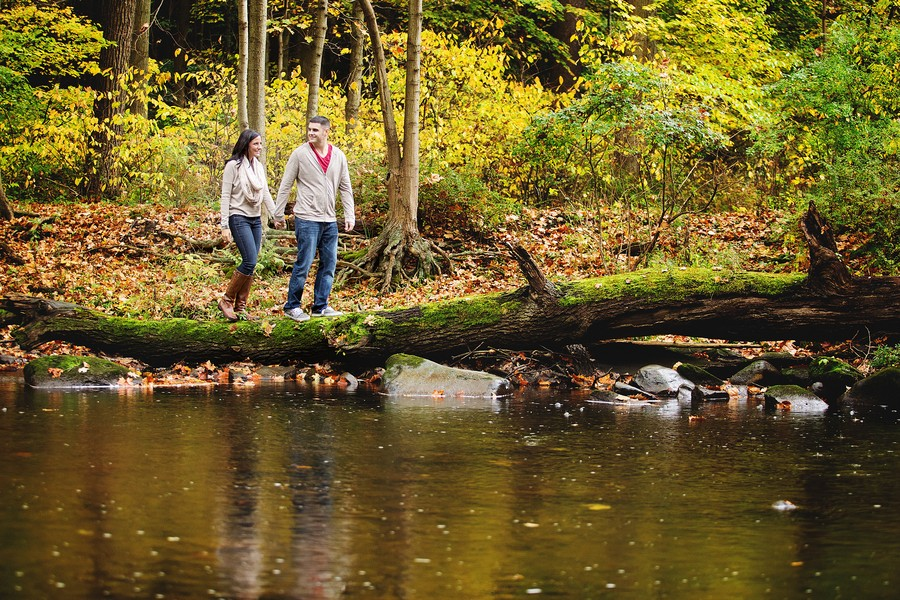 mill creek park ohio engagement session