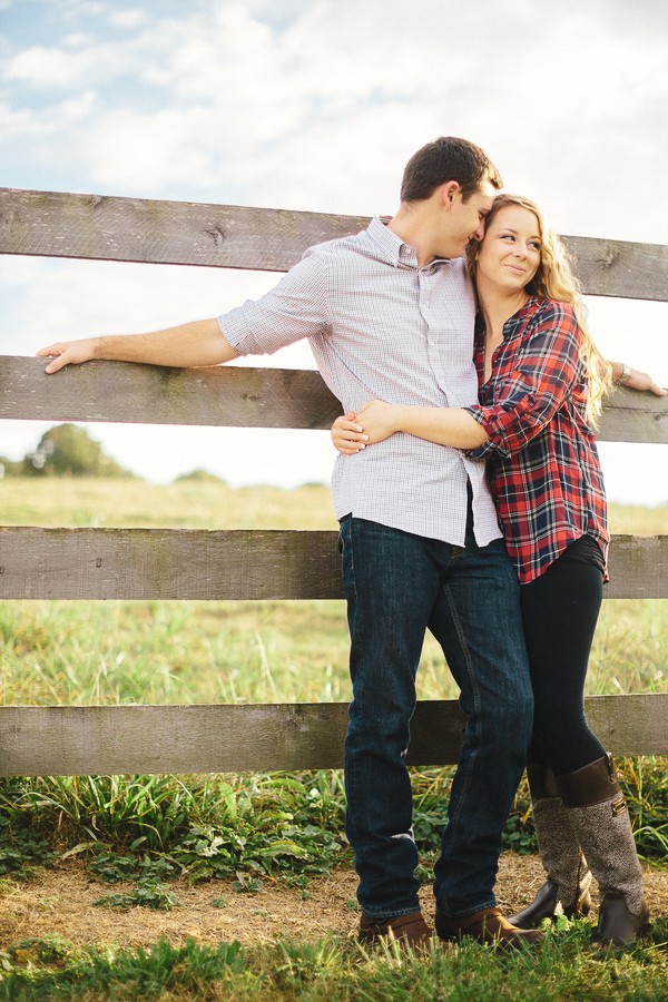 rustic country engagement photos