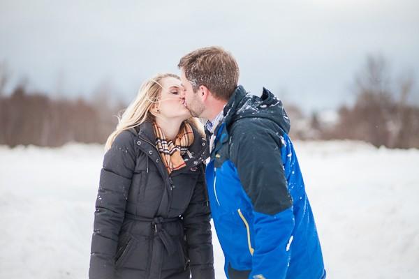 Michigan Ice Skating Engagement Photos