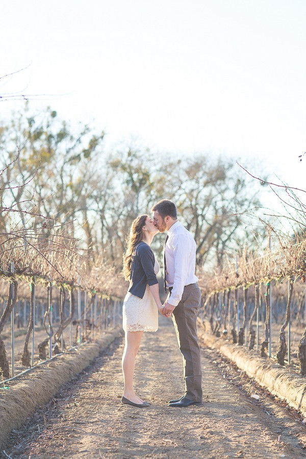 Wildrose Vineyards Engagement Photos