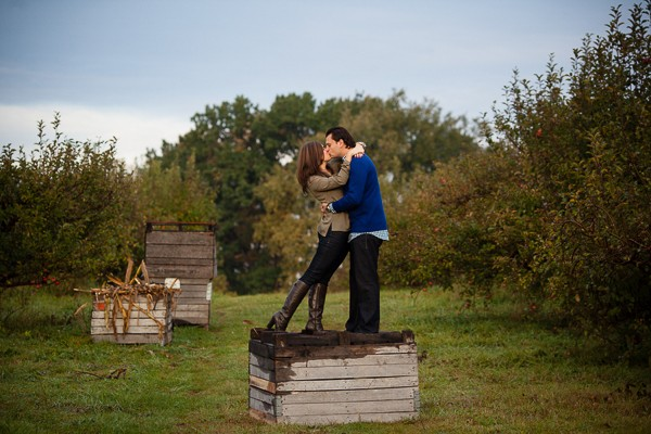 Spicer Orchard Michigan Engagement Photos