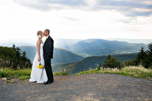 Snowshoe West Virginia Real Weddding